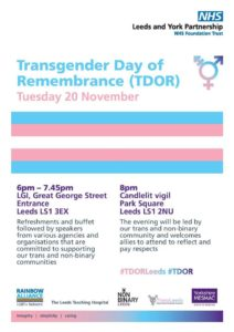 Trans Day of Remembrance Service @ Leeds General Infirmary