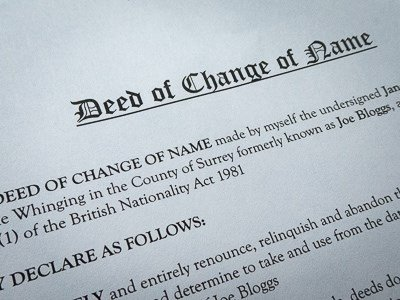 Change of name deed template – deed poll form download – form.